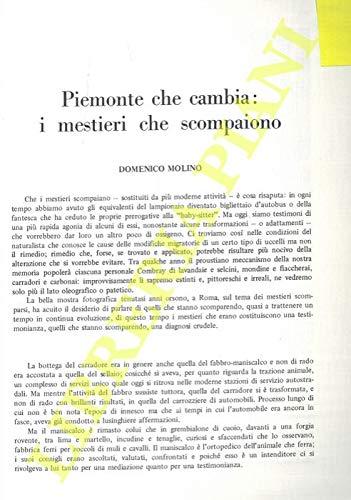 Piemonte che cambia: i mestieri che scompaiono.