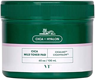 VT COSMETICS CICA MILD TONER PAD (60ea) | VT PAD | BHA Toner-soaked | Exfoliating and Cleansing Pad | Redness Mask sheet |...