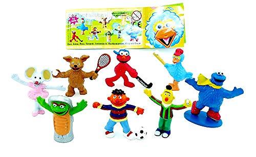 Kinder Überraschung Sesamstraße Figuren von Albert Heijn mit Zettel. Ernie - Bert und Seine Freunde