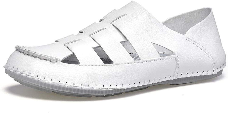 Sommer Strand Schuhe Leder Soft Outdoor Wasser Schuhe Slip On Style Mikrofaser Hohl Sandalen (Farbe  Wei, Gre  7,5 UK)