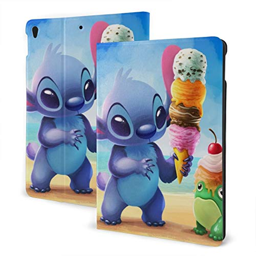 Cartoon Stitch Ice Cream Case Fit iPad air 3 pro 10.5 Inch Case with Auto Sleep/Wake Ultra Slim Lightweight Stand Leather Cases
