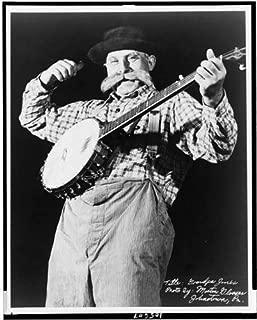 Infinite Photographs Photo: Grandpa Jones,Banjo,Instruments,hat,Clothing,Morton Glosser,Johnstown,PA,c1949