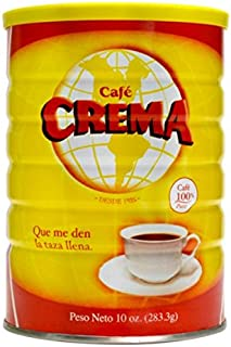 Cafe Crema ground coffee from Puerto Rico, 10 ounce can
