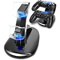 wumedy USB Charging Stand PS4 Double Charging Bracket