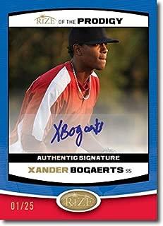 XANDER BOGAERTS 2012 Rize Rookie Autograph BLUE Auto PRODIGY RC #/25