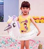 hmmsw Schwimmring Glänzende Einhorn Baby Pool Float Flamingo Schwimmring Für Kinder Pailletten Schwimmring Pool Rohr Aufblasbare Pool Spielzeug-Prinzessin Einhorn
