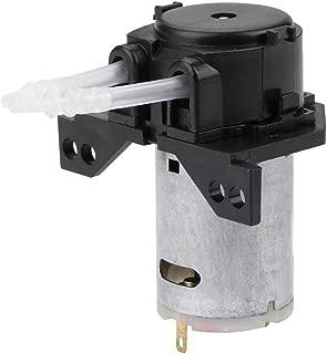 Peristaltic Pump, Akozon DC12V/24V DIY Peristaltic Liquid Pump Dosing Pump for Aquarium Lab Chemical Analysis(Black 24V 24)