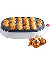 TTFGG 20 Agujeros Electric Takoyaki Maker, Pan Japonés Takoyaki Octopus Ball,Panqueque Cocinar Máquina para Hornear Cacerola para Cocina
