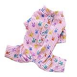 OUYJ PIJO PIEZAMAS Pijamas DE por PUPS DE por PUPS DE por COODÓN Suave Ropa para Dormir Adorable Conejo Impreso Payas Pijamas Cómodo (Color : Pink, Size : XXX-Large)