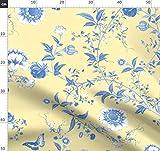gelb, asiatisch, Blumen, Schmetterlinge, französisch, blau