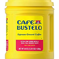 Contains 1- 36 ounce canister of Café Bustelo Espresso-Style Dark Roast Extra Fine Ground Coffee Made from 100% pure, high-quality coffee beans roasted to perfection Dark roast coffee with a robust, full-bodied flavor and captivating aroma Ready to b...