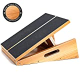 Professional Wooden Slant Board, Adjustable Incline Board and Calf Stretcher, Stretch Board, Extra Side Handle Design for Portability, 16 X 12.5 Inches, 5 Positions (450 LB Capacity) (Full-Coverage)