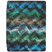 RECASO 抽象的な青緑 水彩画パターン アイパッドミニ5 ケース ipad mini5 ケース ipadmini5 カバー ipadミニ5ケース ipad mini 5 ケース apple ipad mini 5
