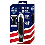 Barbasol Battery Powered Electric Ear and Nose Trimmer With Stainless Steel Blades, Foil Attachment, Detail Trimmer and Stand