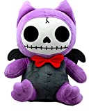 Ebros Furry Bones Skeleton Flappy The Bat with Red Bow Tie Plush Toy Doll Collectible