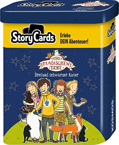 KOSMOS 680824 Story Cards - Die Schule der magischen Tiere: Dreimal schwarzer Kater, spannendes Kartenspiel für Kinder ab 8 Jahre, Rätsel, in Metalldose zum Mitnehmen, Mitbringsel, kleines Geschenk