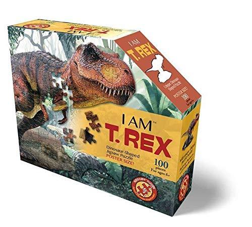 MADD CAPP 884014 Shape Puzzle Junior, Konturpuzzle T-Rex, 100 Teile