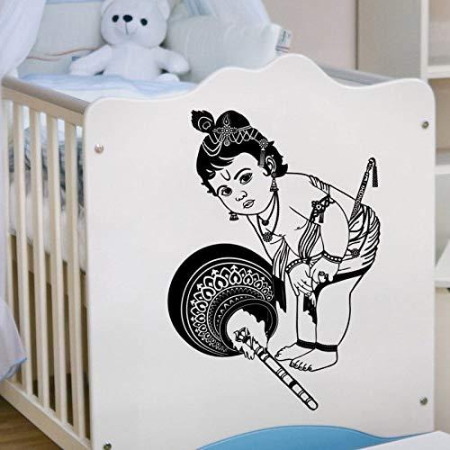 guijiumai Baby Krishna Kano wandaufkleber Vinyl Hindu Gott Gopal Aufkleber Schablone Kunst Geschenk...