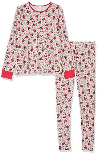 Skiny Mädchen Cosy Night Sleep Girls Pyjama lang Zweiteiliger Schlafanzug, Mehrfarbig (Rosered Fox 2169), (Herstellergröße: 140)