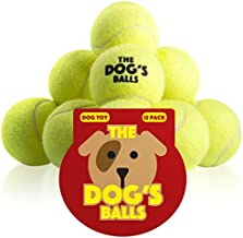 The Dog's Balls, Dog Tennis Balls, 12-Pack Yellow Dog Toy, Premium Strong Dog & Puppy Ball for Training, Play, Exercise and Fetch