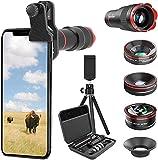 Selvim Phone Camera Lens Kits 9 in 1: 22X Telephoto Lens, 235° Fisheye Lens, 25X Macro Lens, 0.62X Wide Angle...