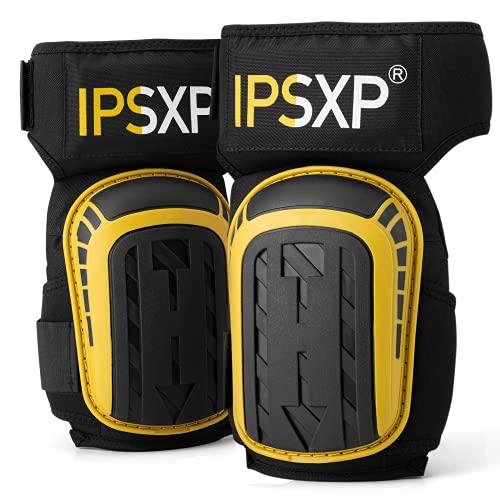 IPSXP Rodilleras Trabajo,Rodilleras Profesionales para el Trabajo, con Correas Ajustables y un cómodo cojín de Gel,para su máxima protección