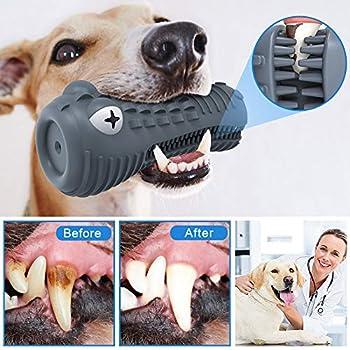 HETOO Jouet à mâcher pour chien, indestructible, solide et durable - Pour mastiquer les chiens agressifs, soins dentaires et nettoyage des dents
