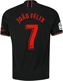 New Atletico Madrid 2019/2020 Season 7 Felix Away Men's Soccer Jersey Color Black (S-XL)