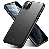 ESR Premium Real Leather Case Compatible with iPhone 11 Pro Max - Slim Full Leather Phone Case [Supports Wireless Charging] [Scratch-Resistant] Protective Case for iPhone 11 Pro Max 6.5' 2019 - Black