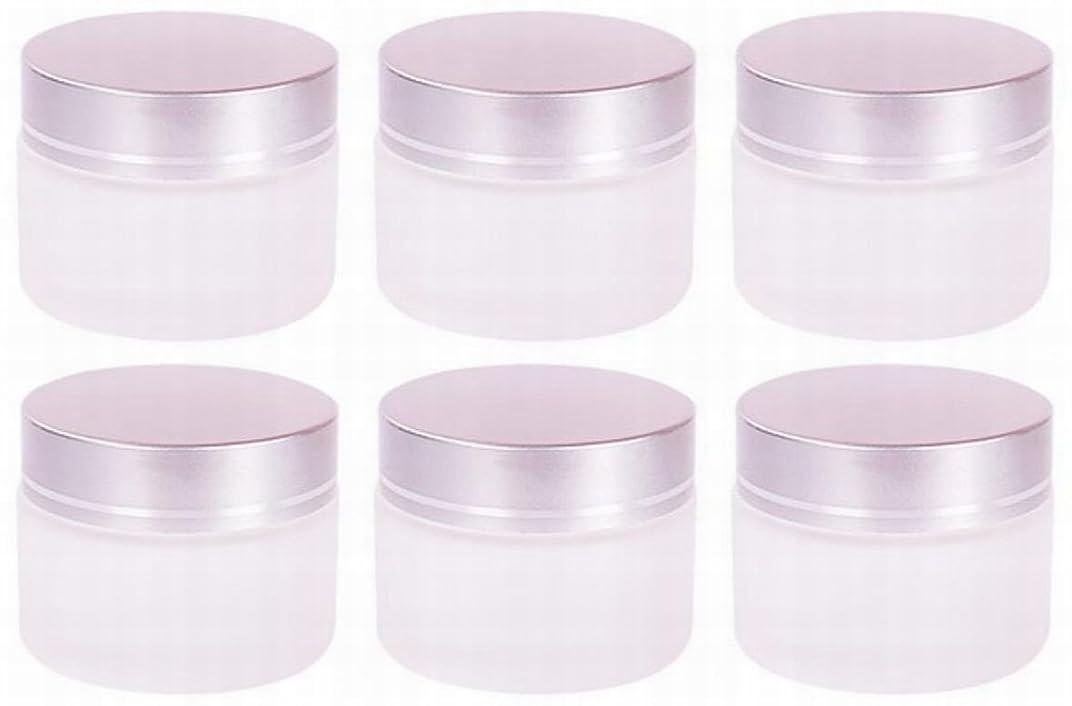 フォロー仮定する来て【Rurumi】ハンドクリーム 容器 すりガラス 乳白色 遮光 ジャー セット アロマ ハンド クリーム 遮光瓶 ガラス 瓶 アロマ ボトル 白 ビン 保存 詰替え (30g 6個 セット)
