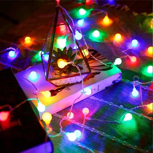 Catena Luminosa LED, Globo di Luci, 6M 40 LED Luci Stringa LED a Batteria, 2 Modalità Colorate Impermeabile Decorative Ghirlanda Esterno/Interni per Giardino, Feste, Camera, Casa (Multicolore)