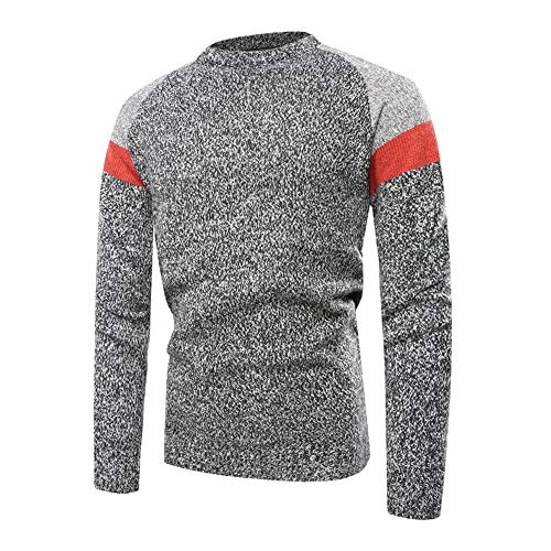 ZZOU Crew Neck Knitted Jumper Golf Sweater Basic Cashmere Wool Long Sleeve Pullover Cable Knit Soft Cotton Rib Stitch Sweatshirt T-Shirt Tops Slim Plain Tunic Casual Blouse Shirt Warm