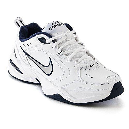 Nike Herren Air Monarch Iv Fitnessschuhe, - Weiß/Metallic. - Größe: 43 EU