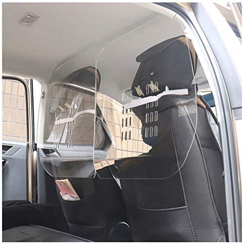 JCX Mampara Proteccion para Taxi - Metraquilato Transparente -Pantalla Metacrilato Mostrador,Fácil Montaje Mampara Proteccion para Taxis, SUV, Camiones