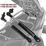 ONE BY CAMAMOTO COPPIA AMMORTIZZATORI MOTO T-MAX Sollevamento Sella/Scatola Immagazzinaggio/Supporto Asta per YAMAHA TMAX 500 modelli anni 2008/2009/2010/2011 e TMAX 530 anno 2012-2016