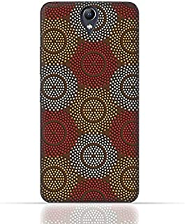 Lenovo Vibe S1 Lite TPU Silicone Case With Polka Dot Ethnic Pattern Design.