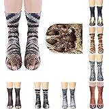 Egurs 8 Paar Unisex 3D Tiermuster Socken Creative