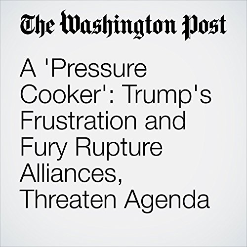 A 'Pressure Cooker': Trump's Frustration and Fury Rupture Alliances, Threaten Agenda copertina
