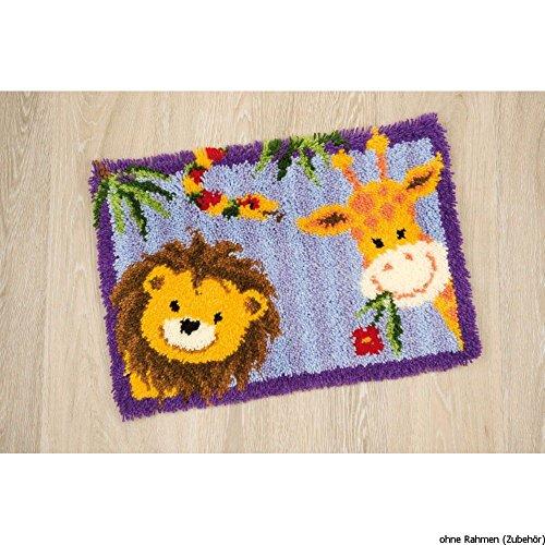 Vervaco Kit de crochet de verrouillage, tapis, Toile, Blanc, 53 x 39 cm