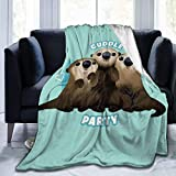 Mouthdodo Finding Dory Otter Cuddle Party Fleece Blanket Character Home Flannel Fleece Soft Warm Plush Throw Blanket for Bed/Couch/Sofa/Office/Camping 60X50 Inch