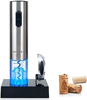 Secura Electric Wine Opener, Automatic Electric Wine Bottle Corkscrew Opener with Foil..