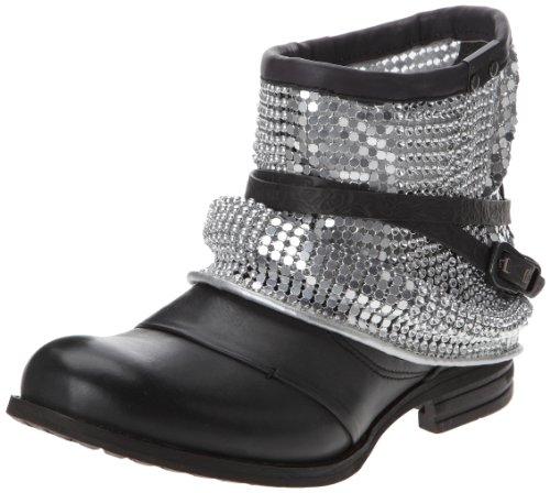 Bunker Criss, Boots femme - Noir (S Carbon), 38 EU
