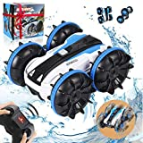 RC Car Amphibious Remote Control Car Boat with 2.4 GHz RC Stunt Car 4WD&Double Sided 360° Rotate Hobby RC Car Birthday Toy for Age 6 7 8+ Girls Boys Teens Aadults