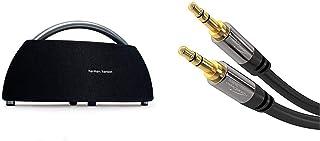 Harman Kardon Go + Play Tragbarer Bluetooth Lautsprecher (mit Dual Mikrofon Konferenzsystem) schwarz & KabelDirekt   Aux Kabel, Audio & Klinkenkabel 3.5mm   1m   schwarz