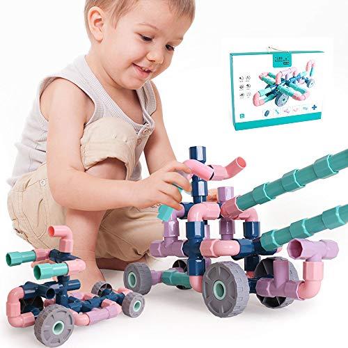 EP-Toy Los Bloques armables de tubería Avanzada, se Pueden Utilizar para Construir Bloques de plástico para niños Juguetes educativos de Bricolaje,116PCS