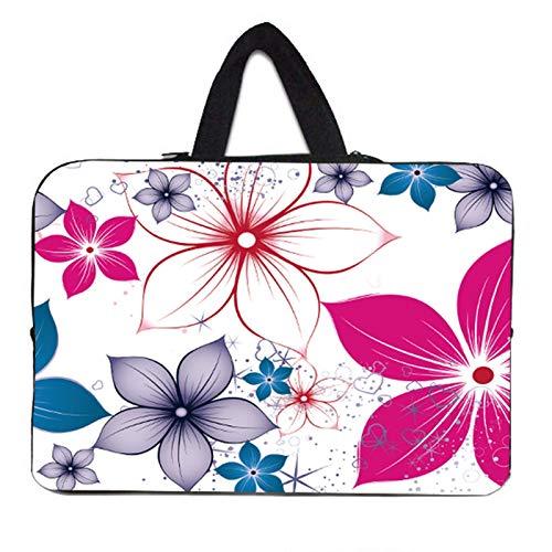 YNLRY Stylish Women's Handle Bag Laptop Sleeve 10 12 13' 11.6 14 15 15.4 15.6 17 Funda Portatil Bolsas Neoprene Chromebook Pouch Case (Color : H048, Size : 17 inch)