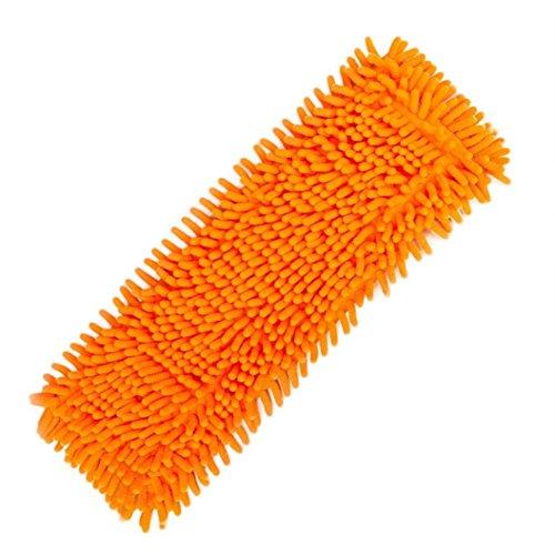 Hunpta Home Tampon de nettoyage synthétique chenille à la poussière Tête de balai de remplacement