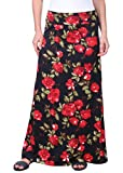 Popana Womens Long Maxi Skirt Casual Convertible Sundress Plus Size Made in USA Floral DT11 Large