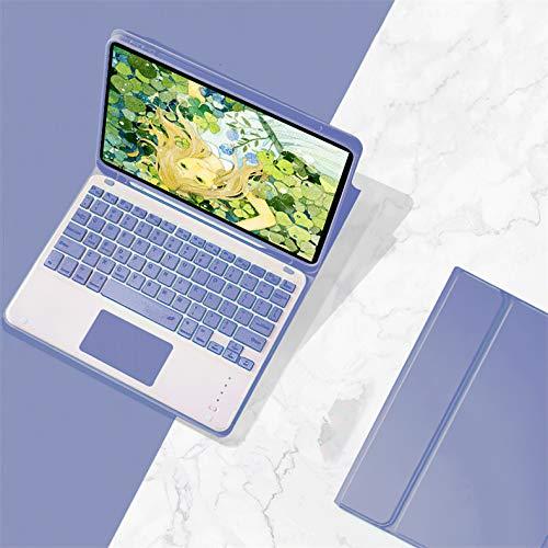 人気 iPad 10.2キーボードカバー タッチパッド付き 第8世代/第7世代 Apple Pencil収納可能 ワイヤレスBluetooth キーボード 分離式 超軽量 手帳型 可愛い お洒落 ペンシル充電対応 脱着式 キーボード スタンド機能 (iPa