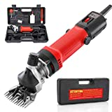 Bielmeier 550W Sheep Shears Sheep Professional Electric Animal Grooming Clippers for Sheep Alpacas Llamas and Large Thick Coat Animals, 6 Speeds Heavy Duty Farm Livestock Haircut Trimmer